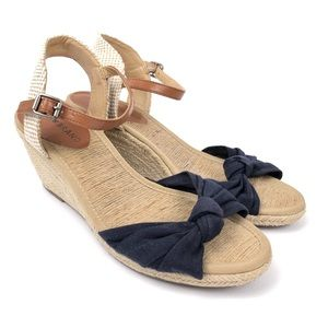 LUCKY BRAND Espadrilles Wedge Sandals Bow Knotted